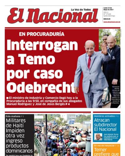 Portada El Nacional, Lunes 22 de Mayo del 2017