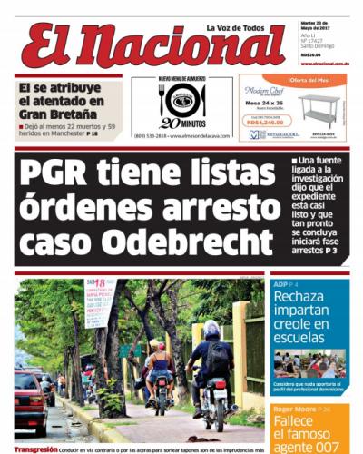 Portada El Nacional, Martes 23 de Mayo del 2017