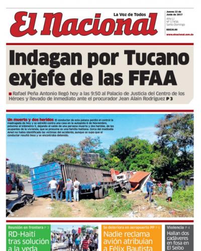Portada El Nacional, Jueves 22 de Junio del 2017