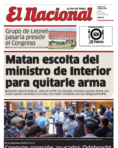 Portada El Nacional, Martes 6 de Junio del 2017