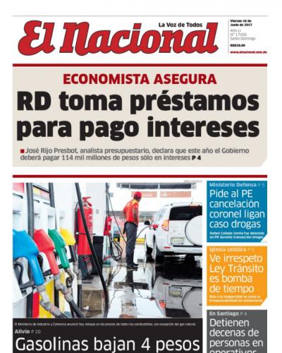 Portada El Nacional, Sábado 17 de Junio del 2017