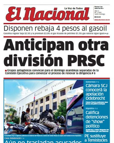 Portada El Nacional, Viernes 9 de Junio del 2017