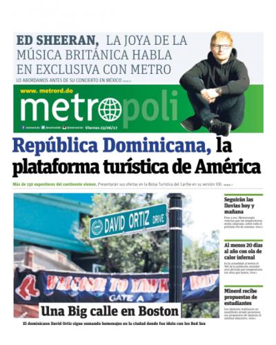 Portada Metro, Viernes 23 de Junio del 2017