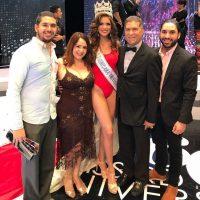 Miss RD Universo 2017 Carmen Muñoz Guzmán y Familia