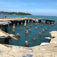 Centenario muelle de Puerto Plata pierde parte de su área frontal por huracán María