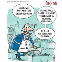 Los huracanes son los nuevos socios de los supermercados… – Caricatura Fuaquiti, Septiembre 21 del 2017