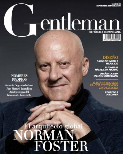 Portada Gentleman, Septiembre 10 del 2017