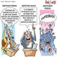Así se aprueban las leyes en el cámara de diputados… – Caricatura Fuaquiti, Octubre 04 del 2017