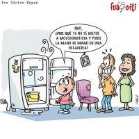Papi deberías tomar ese ejemplo a ver si nos hacemos ricos – Caricatura Fuaquiti, Viernes 29 de Septiembre 2017