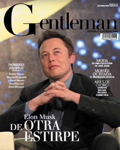 Portada Gentleman, Octubre 19 del 2017