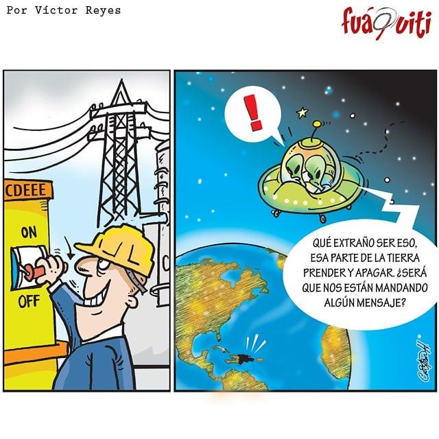 Los extraterrestres están curiosos… – Caricatura Fuaquiti, Octubre 31 del 2017