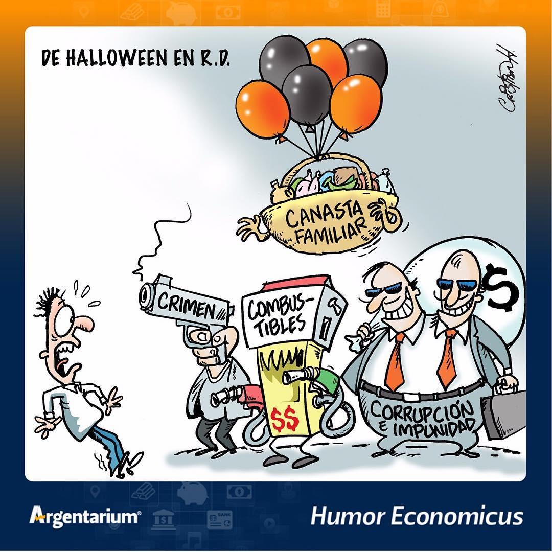 Terror en las calles de RD – Humor Economicus Argentarium, Martes 31 de Octubre 2017