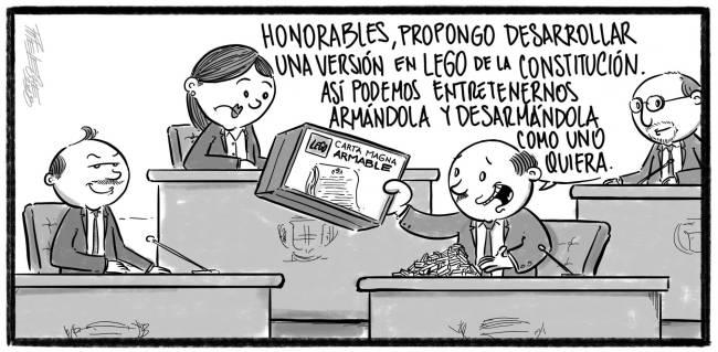 Caricatura Noticiero Poteleche – Diario Libre, 19 de Octubre 2018