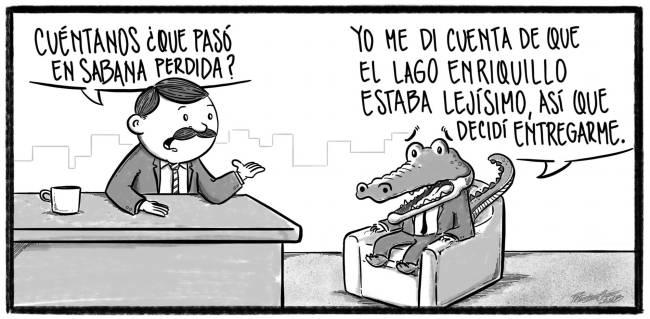 Caricatura Noticiero Poteleche – Diario Libre, 22 de Octubre 2018