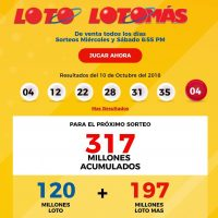 Leidsa Loto,  317, Millones, Sábado 13, 2018