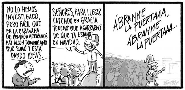 Caricatura Noticiero Poteleche – Diario Libre, 25 de Octubre 2018