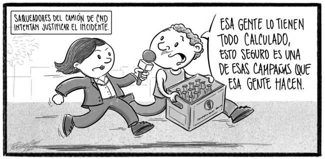 Caricatura Noticiero Poteleche – Diario Libre, 29 de Octubre 2018