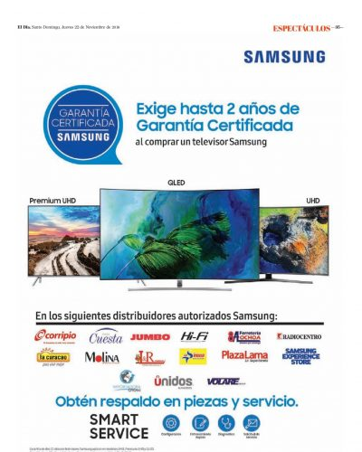 Encarte Samsung, Jueves 22 de Noviembre 2018