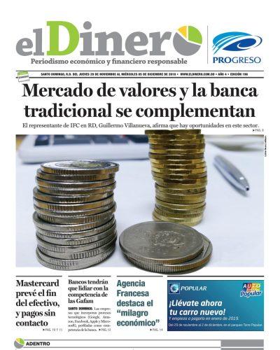 Portada Periódico El Dinero, Jueves 29 de Noviembre 2018