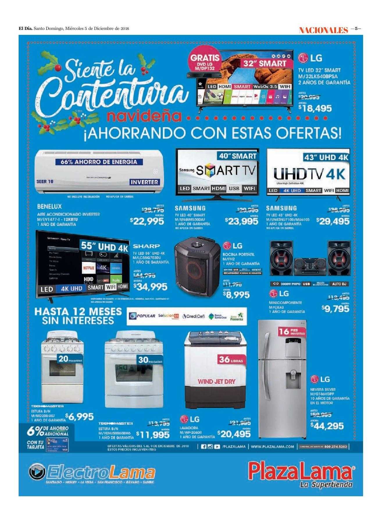 Encarte Plaza Lama, Miércoles 05 de Diciembre 2018