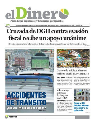 Portada Periódico El Dinero, Jueves 31 de Enero 2019