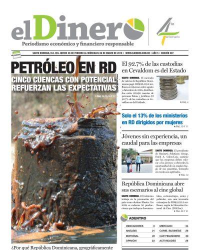 Portada Periódico El Dinero, Jueves 28 de Febrero 2019