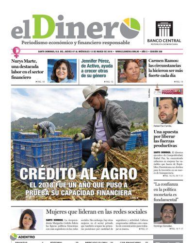 Portada Periódico El Dinero, Jueves 07 de Marzo 2019