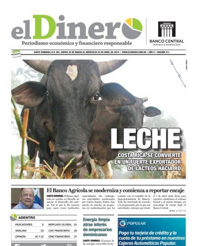 Portada Periódico El Dinero, Jueves 28 de Marzo 2019