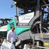 Alcalde Santiago anuncia programa de bacheo, asfaltado y señalización con inversión de 60 millones de pesos