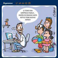 Caricatura Argentarium, Humor Economicus – Y uno con el moño hecho