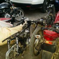 Desmantelan banda robaba motocicletas