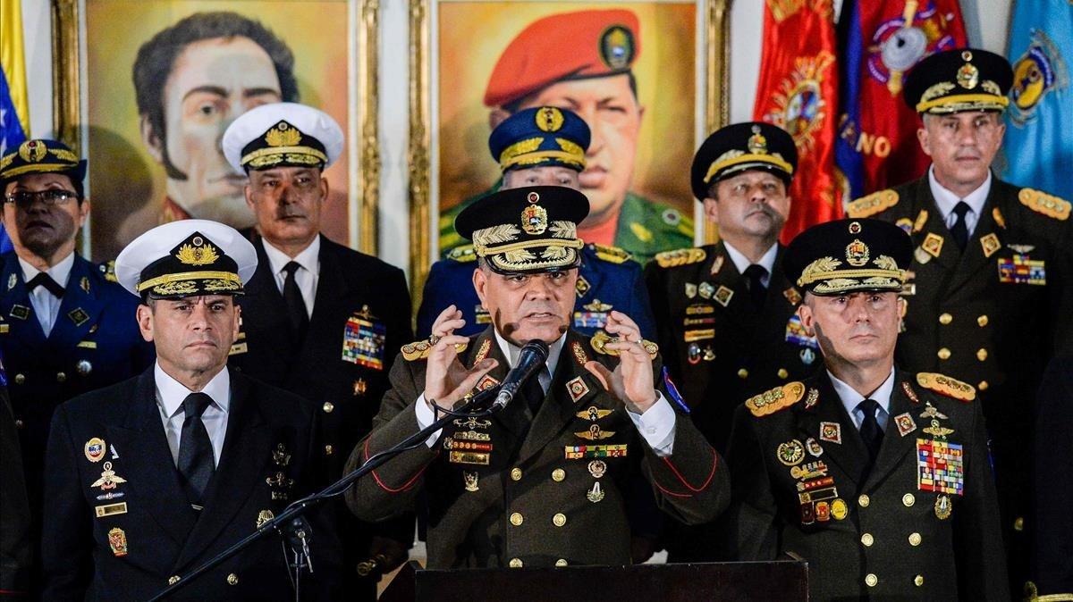 Estados Unidos dice que el ministro de Defensa de Venezuela está en contra de Maduro