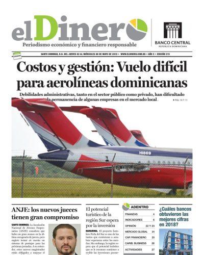 Portada Periódico El Dinero, Jueves 02 Mayo 2019
