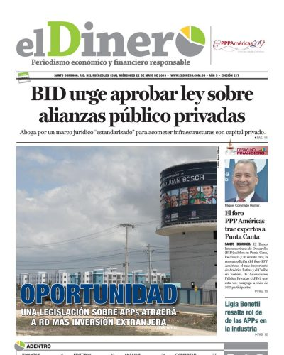 Portada Periódico El Dinero, Jueves 16 Mayo 2019