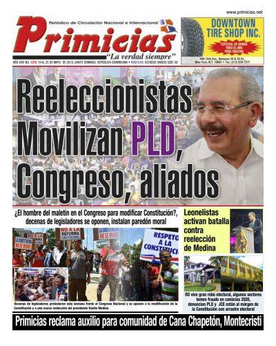 Portada Periódico La Información, Lunes 20 Mayo 2019