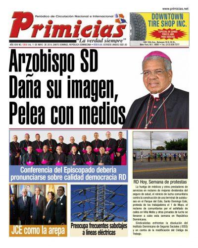 Portada Periódico Primicias, Lunes 06 Mayo 2019