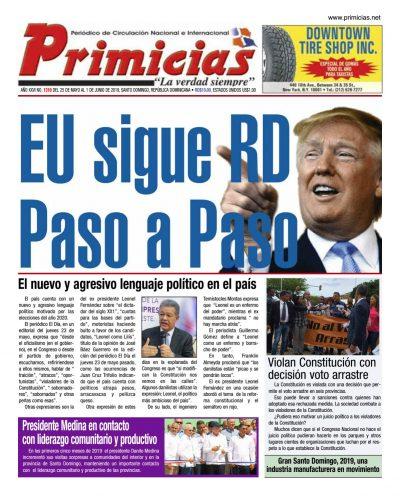 Portada Periódico Primicias, Lunes 27 Mayo 2019