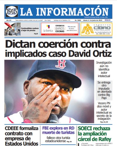 Portada Periódico La Información, Domingo 16 Junio 2019