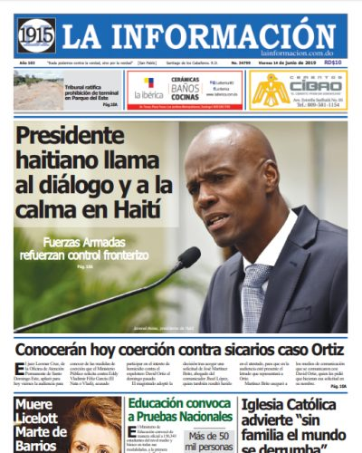 Portada Periódico La Información, Viernes 14 Junio 2019