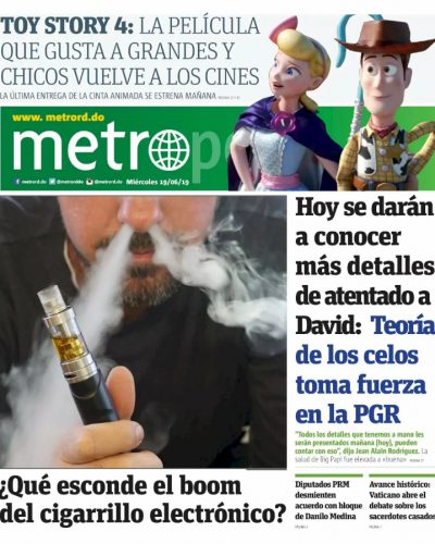 Portada Periódico Metro, Miércoles 19 Junio 2019