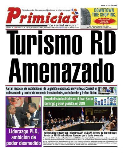 Portada Periódico Primicias, Lunes 10 Junio 2019