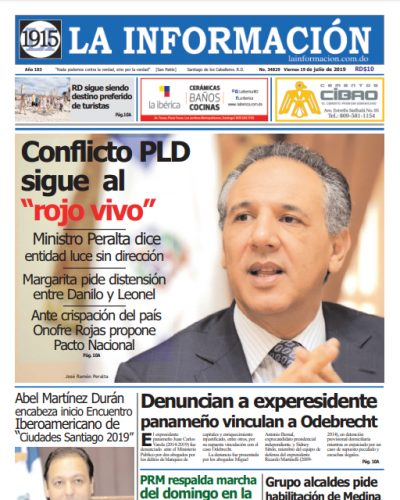 Portada Periódico La Información, Viernes 19 de Julio, 2019