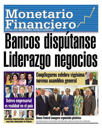 Portada Periódico Monetario Financiero, Lunes 08 de Julio, 2019
