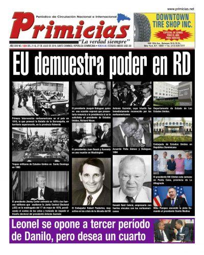 Portada Periódico Primicias, Lunes 22 de Julio, 2019