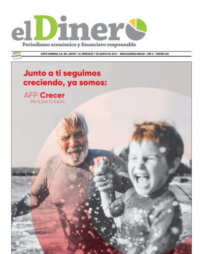 Portada Periódico El Dinero, Jueves 01 de Agosto, 2019