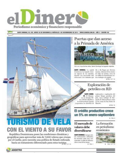 Portada Periódico El Dinero, Jueves 28 de Noviembre, 2019