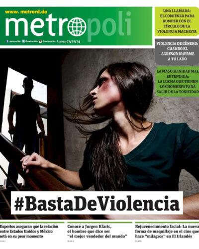 Portada Periódico Metro, Lunes 02 de Diciembre, 2019