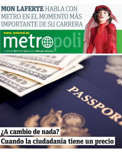 Portada Periódico Metro, Miércoles 18 de Diciembre, 2019