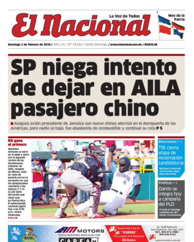 Portada Periódico El Nacional, Domingo 02 de Febrero, 2019