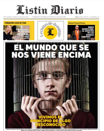 Portada Periódico Listín Diario, Domingo 12 de Julio, 2020